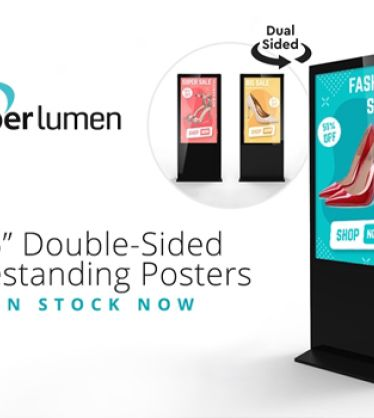 "55"" Double-Sided Freestanding Digital Posters"